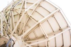 Through the use of satellite dish. Royalty Free Stock Photo