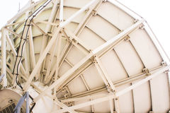 Through the use of satellite dish. Stock Images