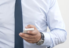Use a smart phone Royalty Free Stock Photo