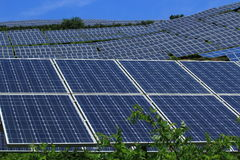 The use of solar energy Stock Image