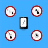 - use telephone safety  icon Stock Image