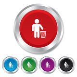 After use to throw in trash. Recycle bin sign. Stock Photography