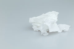 Use  toilet paper. Use  toilet paper on white background Royalty Free Stock Photography