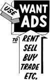 Use Want Ads Stock Image