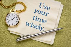 Use you time wisely stock image