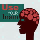 Use Your Brain Concept with Abstract Head Stock Photo