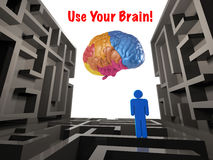 Use your brain Royalty Free Stock Photo