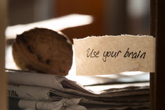 Use your brain Royalty Free Stock Images