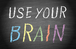 Use your brain Royalty Free Stock Photos