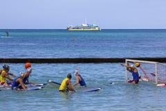 Use Your Head!. Event:  2012 Duke Kahanamoku OceanFest Surfboard Polo Royalty Free Stock Photos
