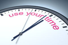 Use your time Stock Photo
