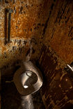 Used abandoned toilette in grungy room Royalty Free Stock Photos