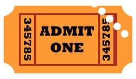 Used admit one ticket Stock Image
