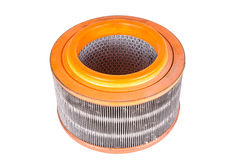 Used air filter auto spare part Royalty Free Stock Image