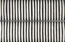 Used air filter for car, auto spare part Royalty Free Stock Images