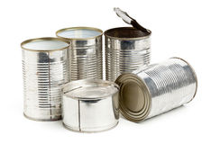 Used aluminum cans Royalty Free Stock Photography