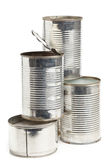 Used aluminum cans Stock Images