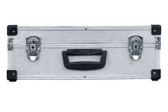Used aluminum suitcase Royalty Free Stock Photo