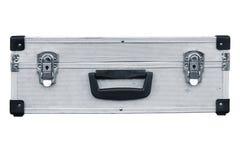 Used aluminum suitcase Royalty Free Stock Photo