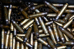 Used ammunition. Picture was taken on a military base in germany Stock Photo