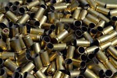 Used ammunition. Pistol 9mm ammunition, used ammunition Stock Image