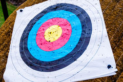 Used archery target Royalty Free Stock Image