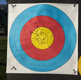 Used archery target Royalty Free Stock Photo