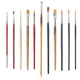 Used art brushes Royalty Free Stock Photo