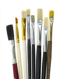 Used artist brushes Stock Photos