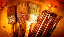 Artist brushes Stock Photography