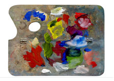 Used artistic palette Stock Photo