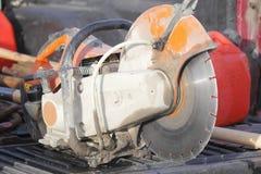 Used Asphalt Cutter Tool Stock Image