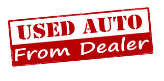Used auto from dealer Stock Image