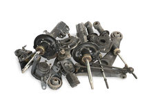 Used auto parts Stock Image