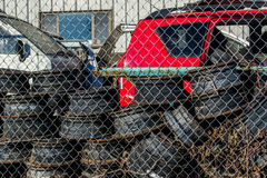 Used auto recycling and dismantling facility. Royalty Free Stock Image