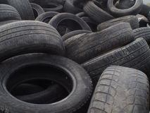 Used automobile tyres Royalty Free Stock Images