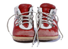 Used baby shoes Stock Images