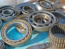 Used ball bearings royalty free stock photography