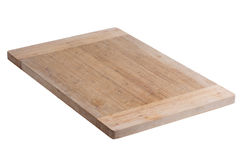Used bamboo wood cutting board on white background Royalty Free Stock Photo