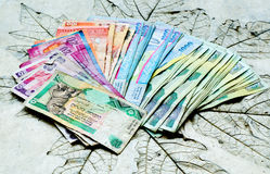 Used banknotes country Sri Lanka Stock Image