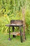 Used barbecue Stock Photo
