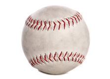 Used baseball cutout Stock Image