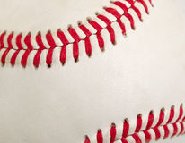Used baseball in filled frame format Stock Photo