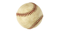 Used baseball isolated on white. Background Royalty Free Stock Photos