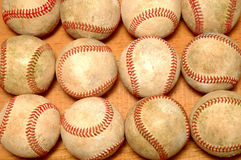 Used Baseballs Royalty Free Stock Image