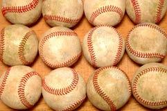 Used Baseballs. Dozen used baseballs royalty free stock image