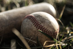 Used Bat and Ball Royalty Free Stock Images