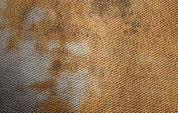 Used bathroom rug pattern Stock Photo