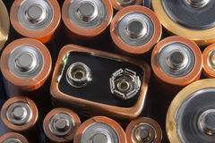 Used batteries Stock Photos