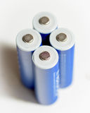 Used batteries that can be charged Stock Image